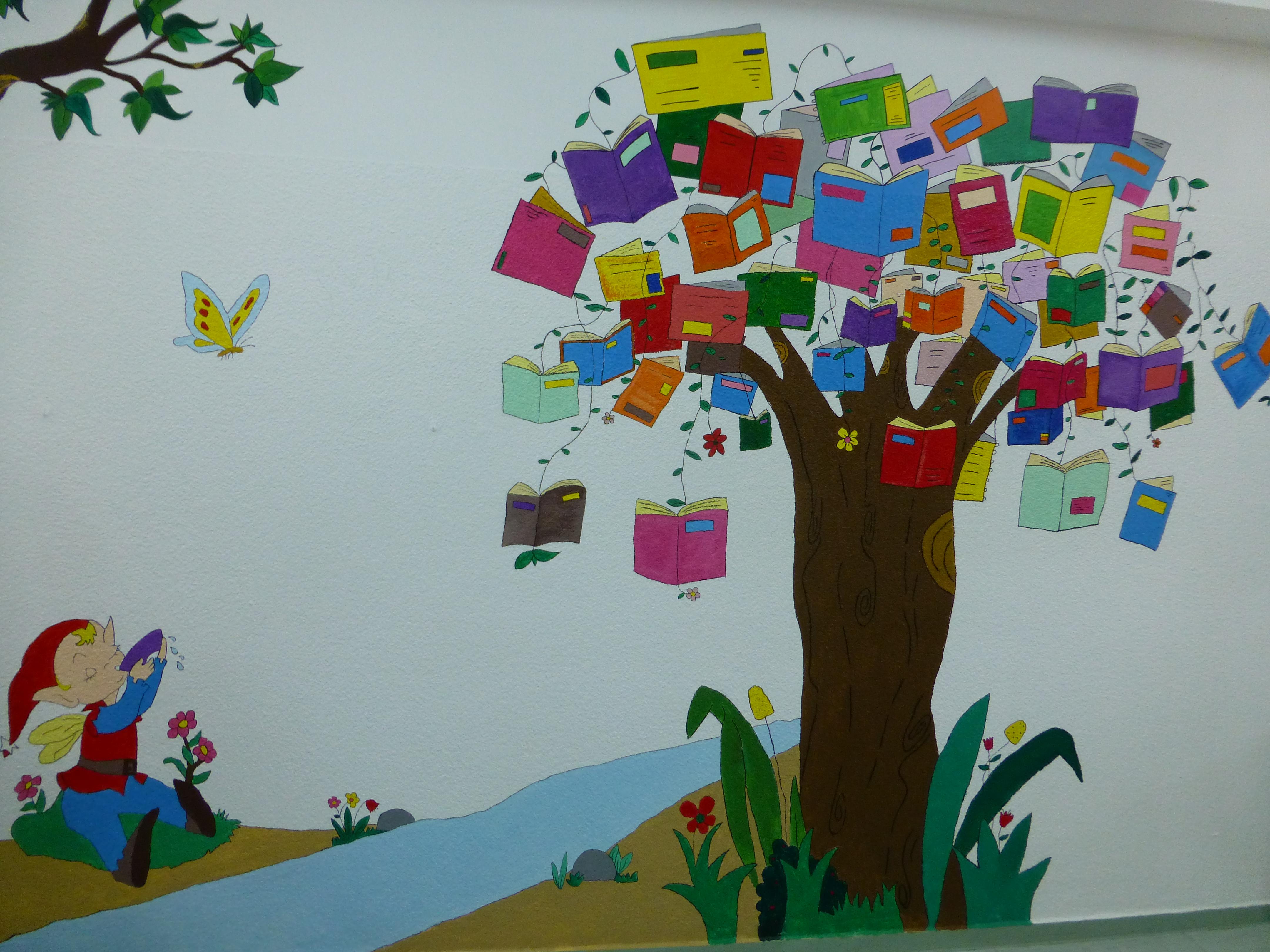 La ludobiblioteca un espacio para so ar vuela con tus for Mural una familia chicana