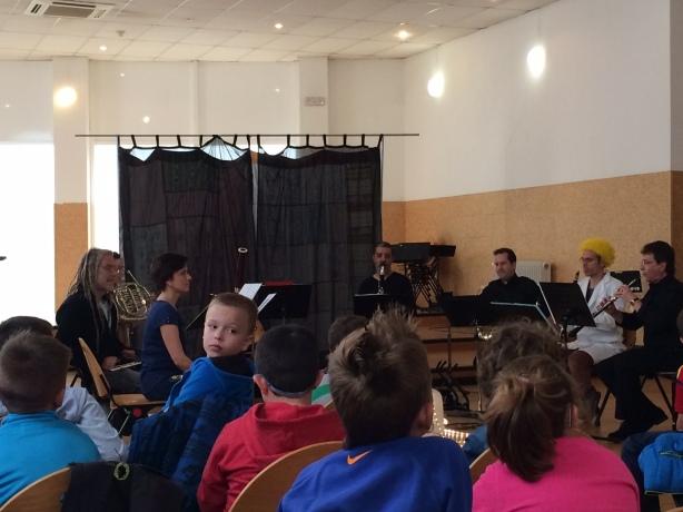 Alumnos de 2º  en el Conservatorio